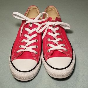 Converse All Star red low top shoes